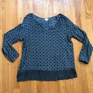 J. Jill blue long-sleeved tunic
